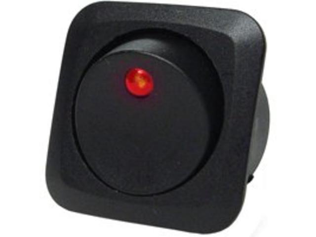 Swtch Rocker 25A Blk Calterm CALTERM INC Switches 40600 Black 046494406003