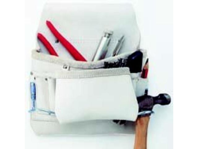 CLC 178234 8-Pocket Leather Carpenters Nail and Tool Bag