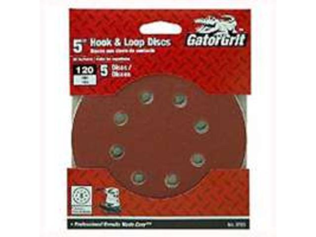 Dsk Sndg 5In 120Grt A/O Rsn ALI INDUSTRIES Sanding Discs - Hook & Loop 3723