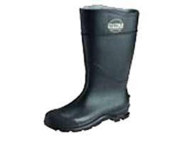 Servus 617-18822-10 16 Inchblack Knee Boot Pvc Angle Cleated Sole W-Plai