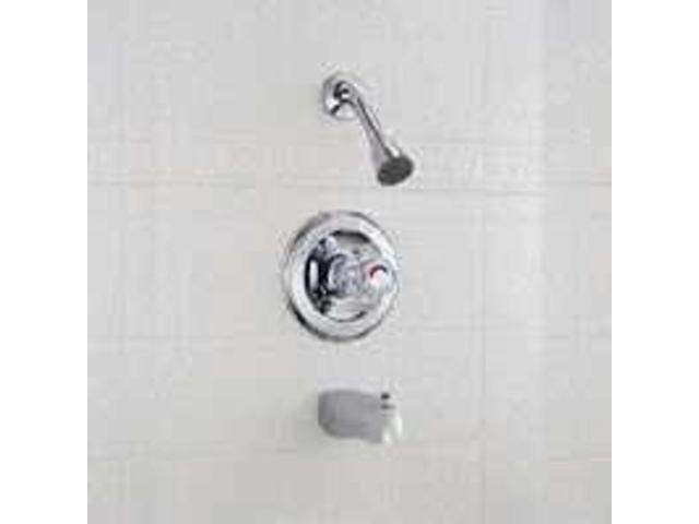 Chrm Tub/Shower Faucet 1Handle DELTA FAUCET CO Delta Tub & Shower Single Han