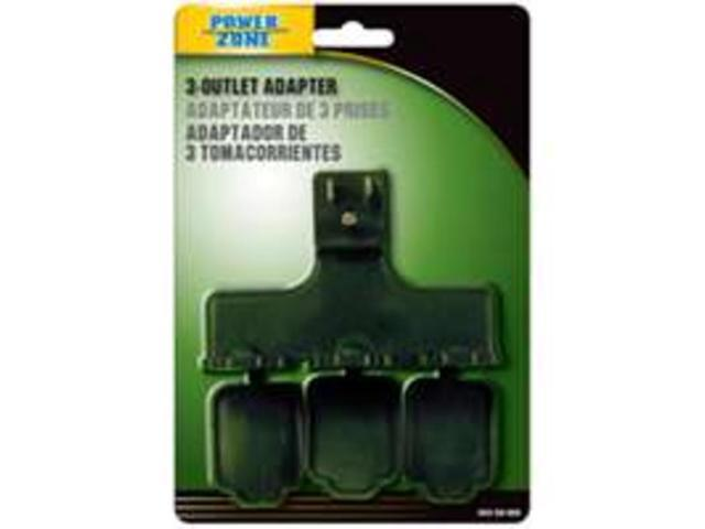 Adapt Out 3Out Grn POWER ZONE Household Extension Cords ORAD2501 Green