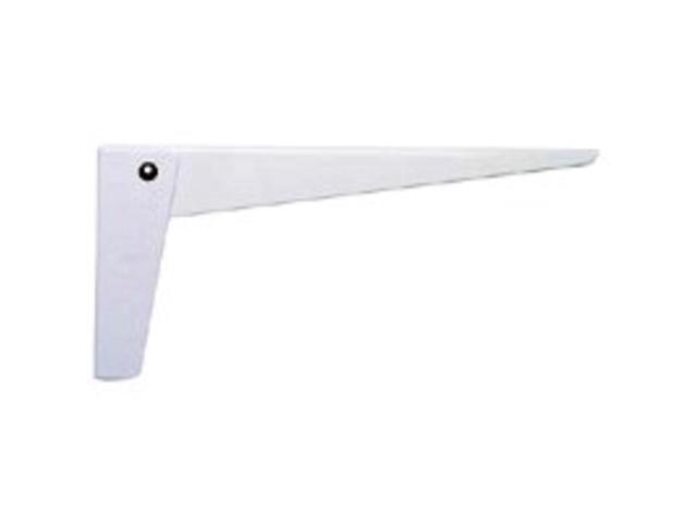 Stanley Hardware 250079 12-Inch Folding Shelf Bracket, White - 2-Pack