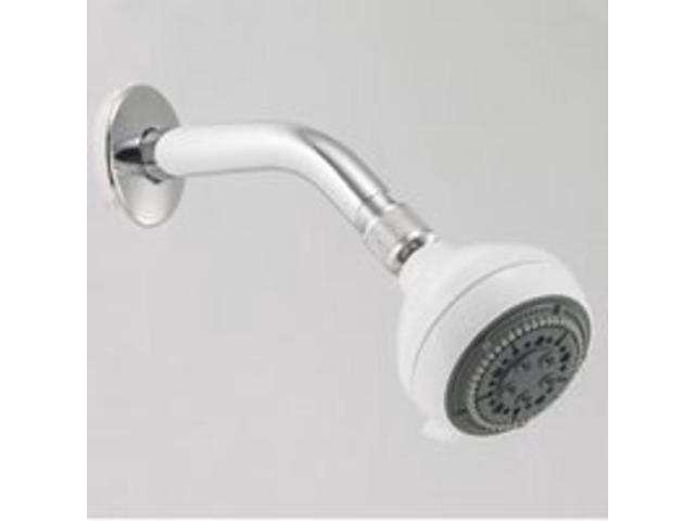 Alsons Corporation 76563WH 5 Spray Showerhead White Massage 5 Spray Settings - E