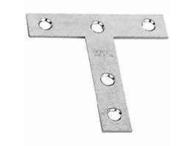 Plt T 3In Stl Cd995-1/2 F/ Bx STANLEY HARDWARE T-Plates 755750 Zinc Plated Steel