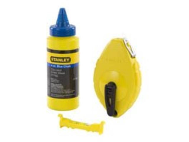 Stanley Tools 47-443 Chalk Reel With Chalk &  Level Abs Case 3 Pieces - Each
