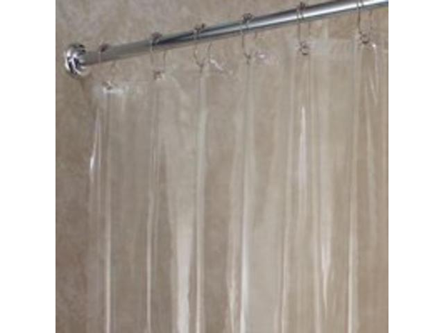 Interdesign Vinyl Shower Curtain Liner In Clear 72 X 72 Inch