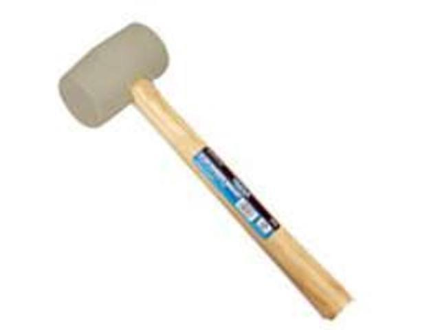 Diamondback JL24116-16W 16-Ounce White Rubber Mallet Rubber Head Wood Handle - E
