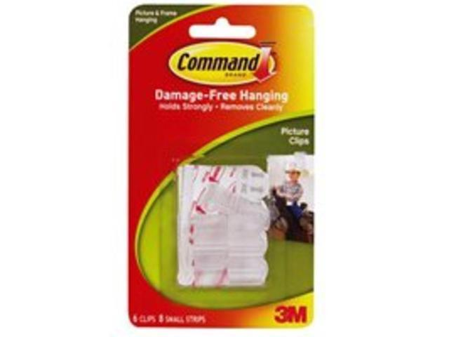 3M 17210 Command Picture Clips 6 clips, 8 strips/pack