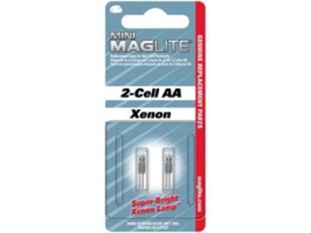 Mag 353301 Flashlight AA Mini Krypton Bulb - Pack of 2