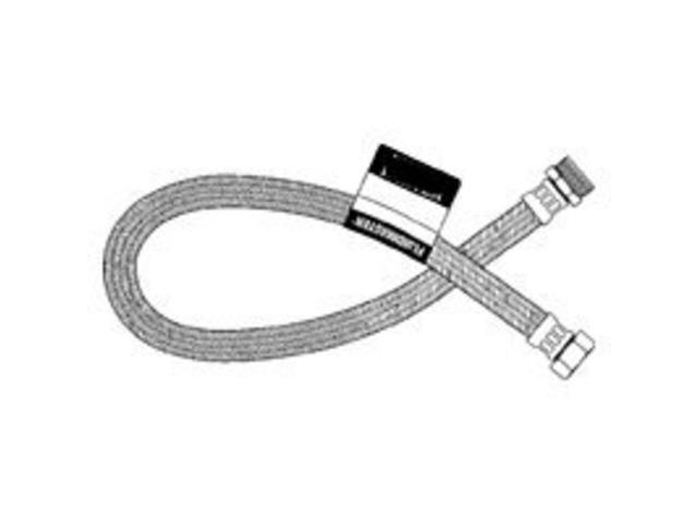 Fluidmaster .38in. X .88in. X 9in. No-Burst Braided Stainless Steel Toilet Connectors