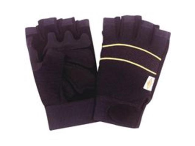 Diamondback BLT-0508-4-XL Fingerless Working Gloves Extra-Large Leather - Finger