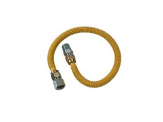 """Brass Craft CSSD54-60P 1/2"""" M.I.P. X 1/2"""" F.I.P. Stainless Steel Gas Connector"""