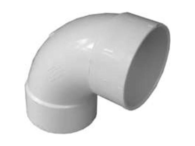 "3"" PVC S and D 90Deg Sanit Elbow GENOVA PRODUCTS INC Pvc-S&D Elbows 42830"