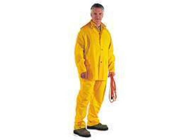 Diamondback SRS3/111-L Large 3-Piece Yellow Poly Rainsuit 3-Piece Heavy-Duty - E