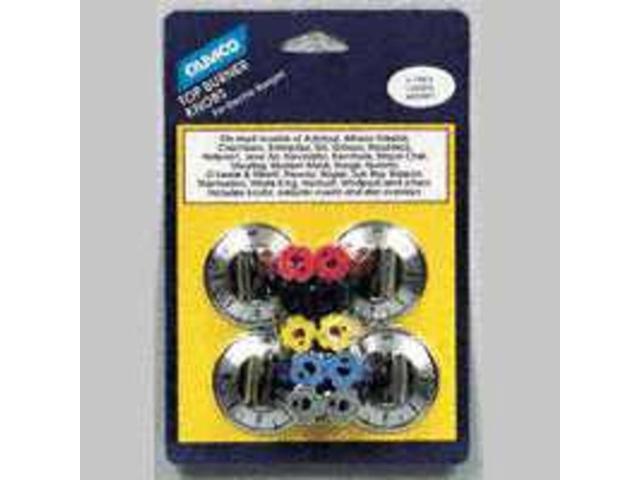 Camco Mfg Inc 883 Black Electric Range Burner Knob - Pack of 4