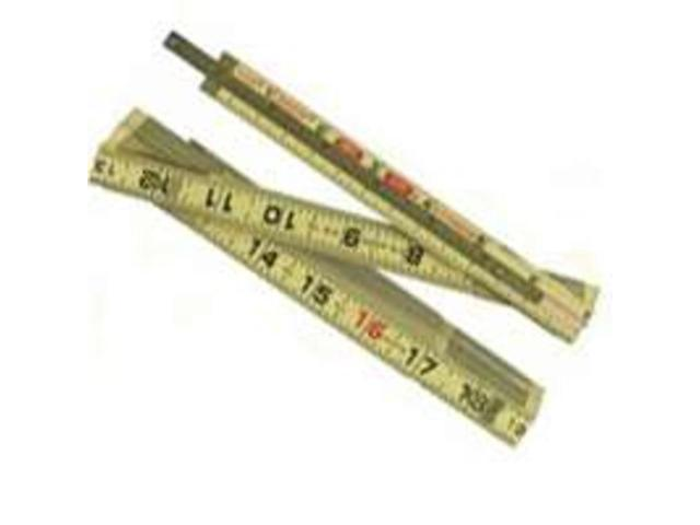 """Lufkin X46 6' x 5/8"""" Wood Rule Red End with 6"""" Slide Rule Extension"""