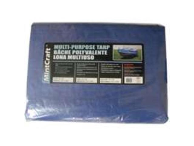 Mintcraft T2020BB90 20-Ft. X 20-Ft. Medium Duty Poly Tarp, Blue