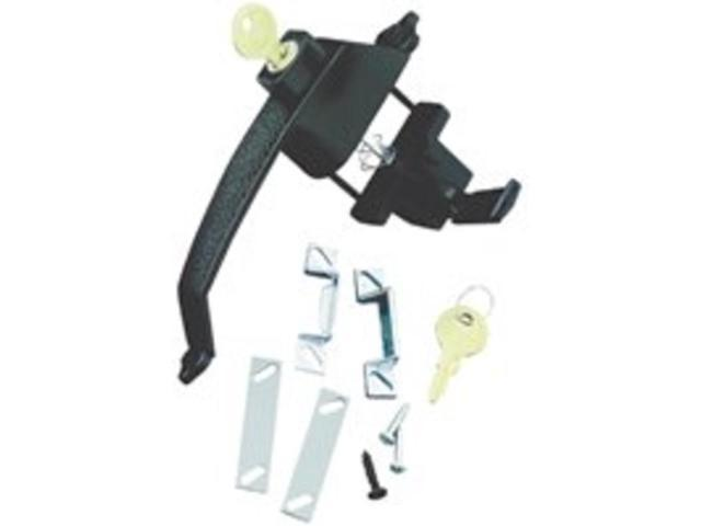 Lth Pushbutton 3/4 - 1-1/8In HAMPTON PRODUCTS Latches VCK333X3BL Black