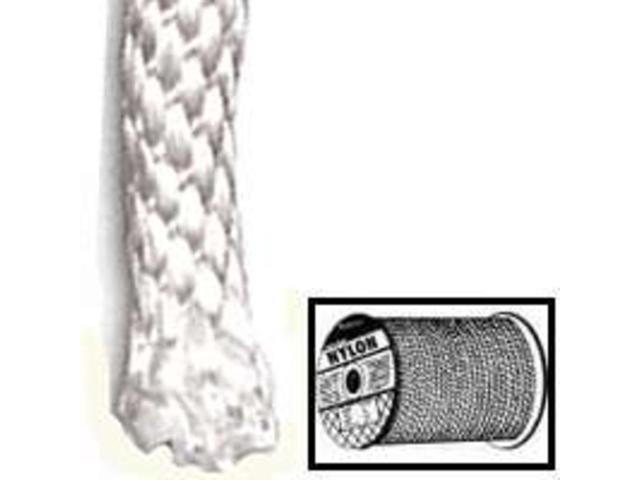 Wellington-Cordage 10124 No.8 1/4-Inch X 200-Foot Nylon Rope Solid Braided