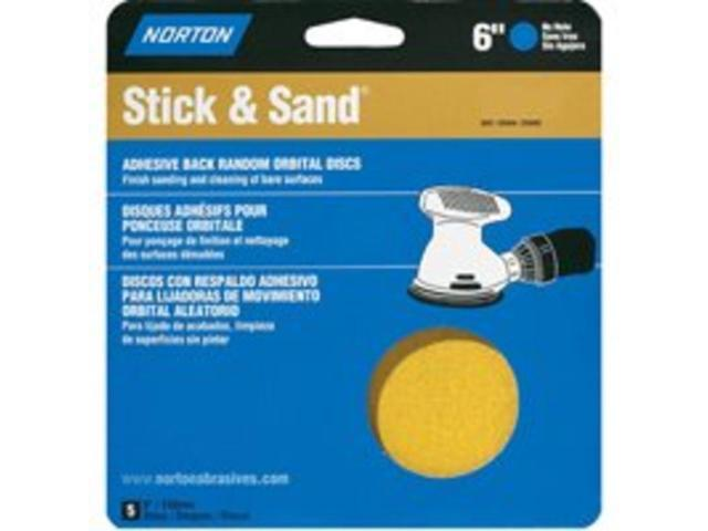 Dsk Sndg 6In 40Grt A/O Adh NORTON Sanding Discs - Adhesive Back 07660702500