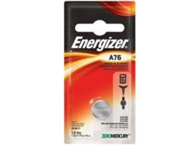 Energizer-Eveready 11090 - A76 1.5 Volt Alkaline Zero Mercury Button Cell Watch / Calculator / Medical / Photo Battery (A76BPZ)