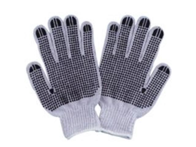 Cotton Knit Glove Whte w/Dots DIAMONDBACK Gloves - Cloth FO809PVD2 045734962835