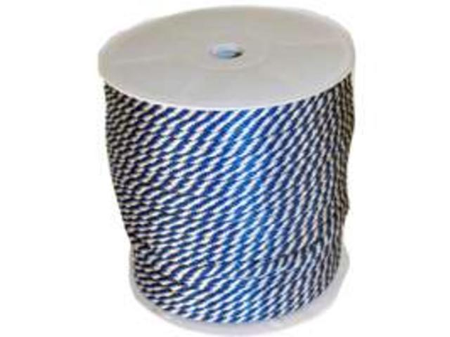 Wellington-Cordage 46446 Blu/ White Derby Rope 3/8X500-Foot Solid Braided - Mult