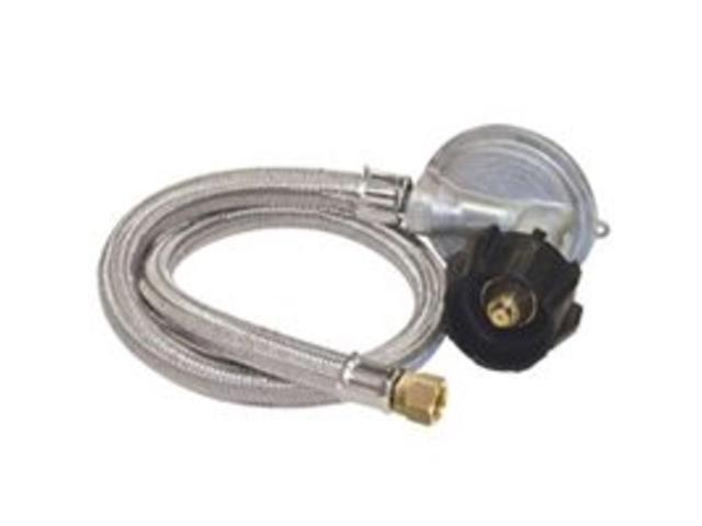 "Bayou Classic 36"" Stainless Braided Low Pressure Hose with 1-PSI Regulator"