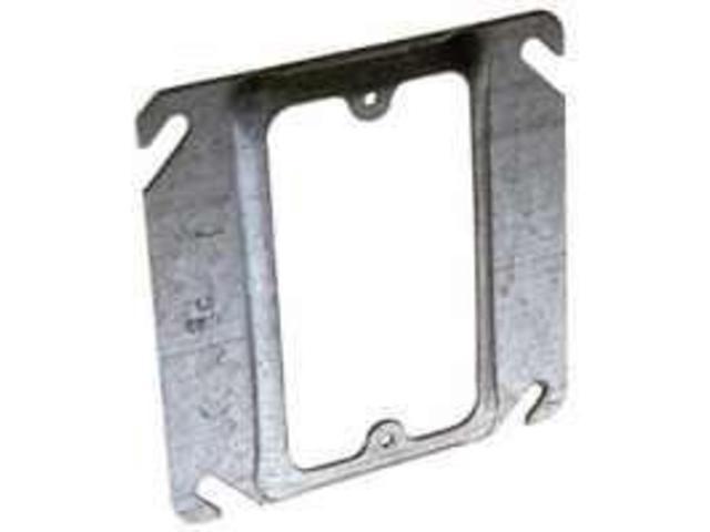Cvr Bx Elec 4In 5/8In 1G Stl RACO Elec Box Supports 8768 Gray Steel 050169007686