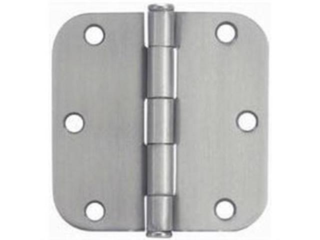 "Satin Nickel 3-1/2"" Door Hinge 5/8"" Radius NATIONAL Door Hinges N305-268 Steel"