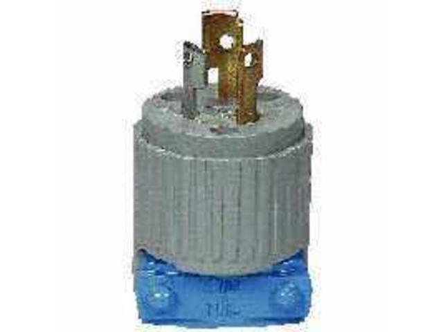 Twist Lock Electrical Plug, 125 V, 15 A, 2 P, 3 W COOPER WIRING WD4720