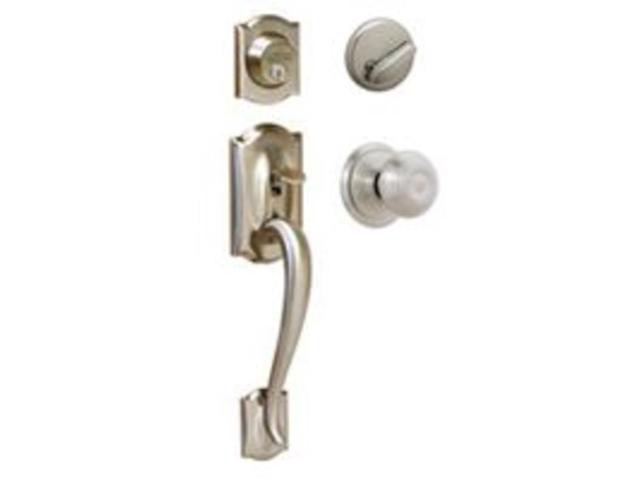 Schlage Lock F60VCAM/GEO619 Camelot/Georgian Two Piece Handle Set