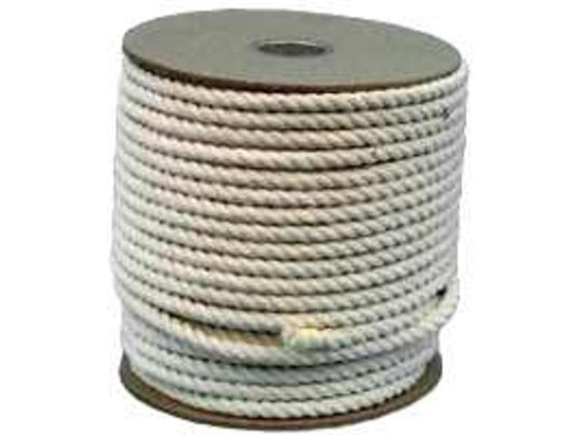 Wellington-Cordage 11298 3/4-Inch Twisted Cotton Rope, 350-Foot Spool