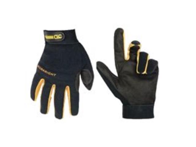 Custom Leathercraft 123L Clc High Dexterity Flex Grip Workright Oc Gloves, Large