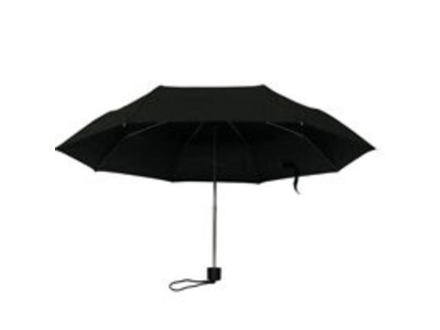 Homebasix 123 Rain Umbrella Mini 19.5-Inch Black Mini Plastic Handle - Each