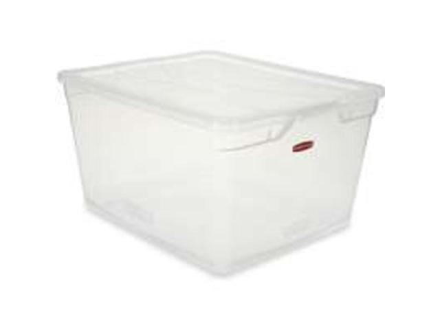 Clear Base 71Qt RUBBERMAID HOME Storage Containers 3Q34-00-CLR 071691419556