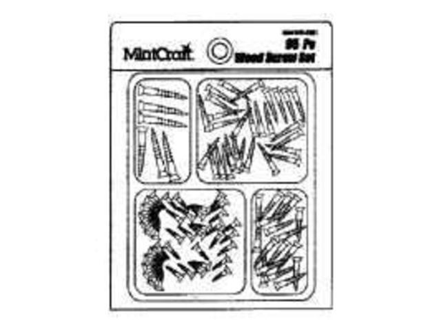 Scr Set Wood 95Pc F/ Lt Dty MINTCRAFT Fastener Assortments JL82101 045734987296