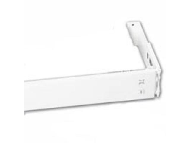 28 48 Wide Curtain Pocket Rod Piedmont Drapery Hardware Curtain Rods 13276 White