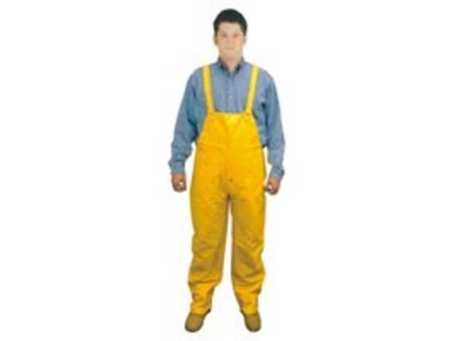Diamondback 8117B-M Bib Overall PVC Yellow Medium Pvc &  Polyester Laminate