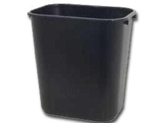 28-1/8Qt Black Wastbasket NEWELL RUBBERMAID COMMERCIAL Wastebaskets 295600BLA