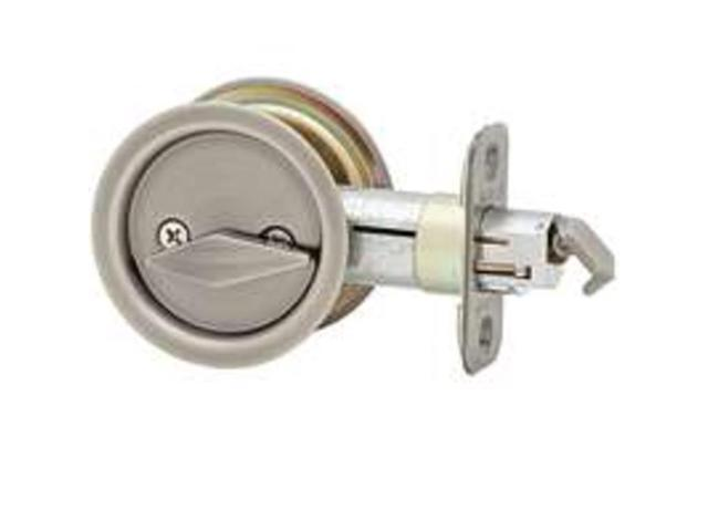 Kwikset 33515A RND Round Pocket Door Lock Privacy Round Carded