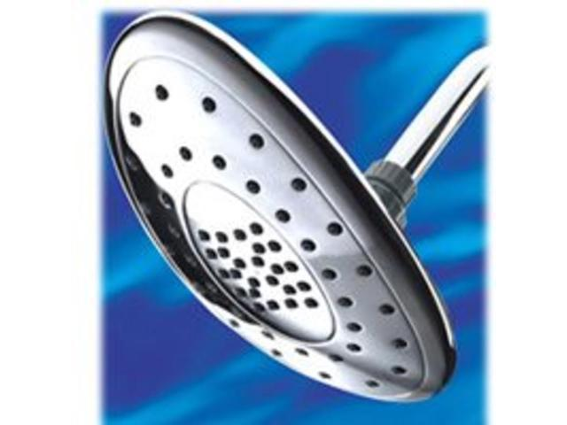 Water Pik AST-233 Full Body Showerhead, Chrome Fixed Mount - 2 Spray Settings -