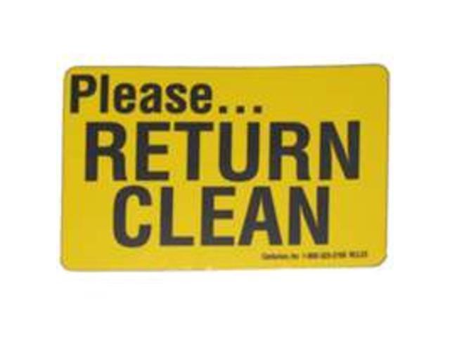 Return Clean Decal CENTURION INC Misc Supplies RCL23 701844124203