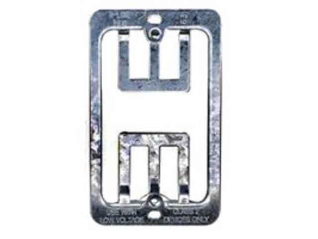 Leviton Mfg R02-C0224-000 1-Gang Mounting Bracket WallPlate - Pack Of 2