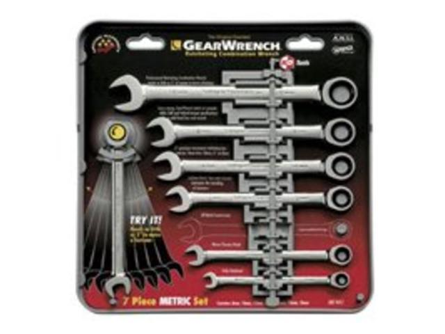 KD Tools 9417 7-Piece Metric Ratcheting Combination GearWrench Set