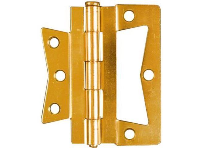 "National Brass Finish 3"" Surface Mount Hinges 2Pk NATIONAL Door Hardware Brass"