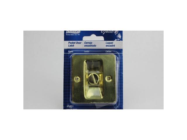 Pocket Door Latch NATIONAL Pocket Door Hardware N216-077 Brass Solid Brass