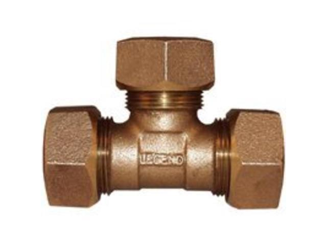 In compression tee legend valve and fitting water service