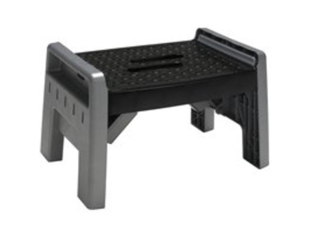 1 Step Folding Stool COSCO PRODUCTS Step Stools 11-905-PBL4 Gray 044681119156